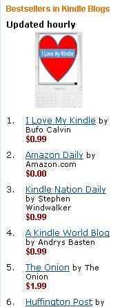 October 17 2009: #1 Blog in the Kindle Store!