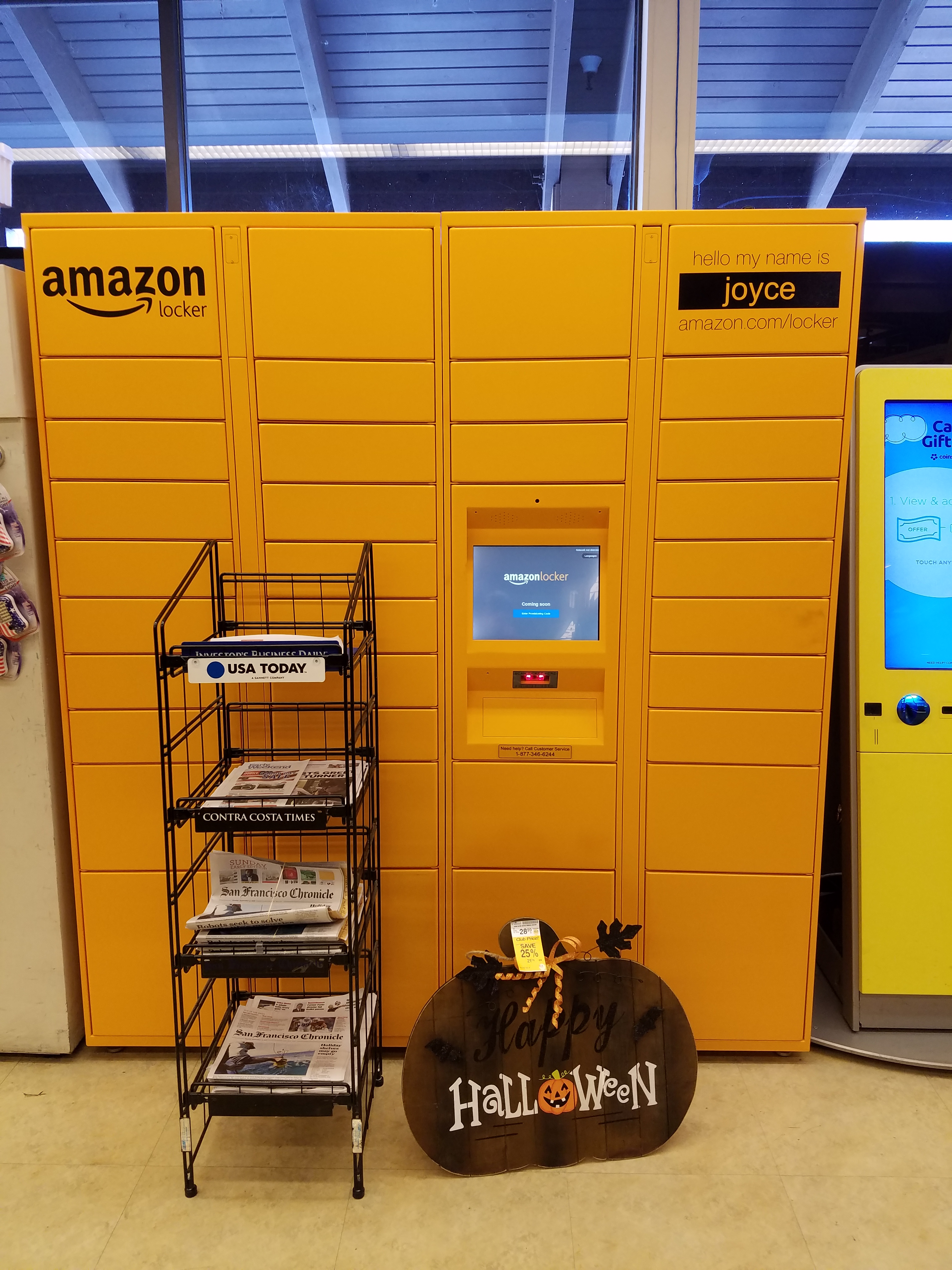 amazon lockers come to a safeway near us i love my kindle. Black Bedroom Furniture Sets. Home Design Ideas